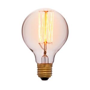 Дизайнерская винтажная лампа золотая G80 F2 код 051-972