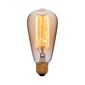 Дизайнерская винтажная лампа золотая ST64 F2 код 053-242