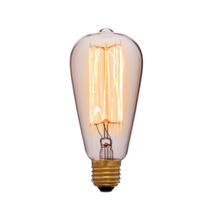 Дизайнерская винтажная лампа прозрачная ST64 F2 код 051-910