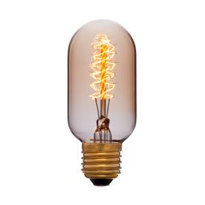 Дизайнерская винтажная лампа T45F5 золотая код 051-941
