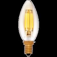 Лампа эдисона светодиодная LED C35 золотая 4вт(40вт) Е14 2200K 400Lm не диммируемая, без мерцания, код 056-823 Sun-Lumen