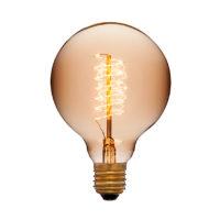 Лампа эдисона G95 F5+ золотая 40вт е27 код 053-655 Sun-Lumen