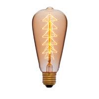 Лампа эдисона ST64 F9 золотая 40вт е27 код 053-518 Sun-Lumen