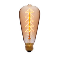 Лампа эдисона ST64 F9 прозрачная 60вт е27 код 053-532 Sun-Lumen
