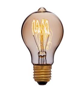 Лампа эдисона A60 F1 золотая 40вт е27 код 051-866 Sun-Lumen