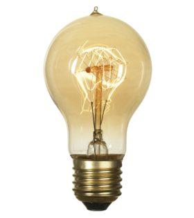 Лампа эдисона A60 F1 прозрачная 60вт е27 код GF-E-719 Lussole