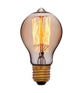 Лампа эдисона A60 F2 золотая 40вт е27 код 051-873 Sun-Lumen