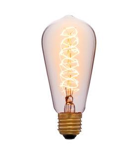 Лампа эдисона ST58 F5 прозрачная 60вт е27 код 052-191 Sun-Lumen