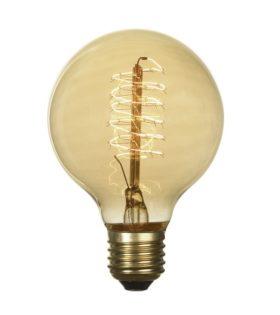 Лампа эдисона G80 60вт е27 80x120 код GF-E-7125 Lussole