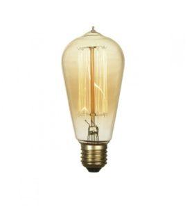 Лампа эдисона ST60 F2 60вт е27 60x140 код GF-E-764 Lussole
