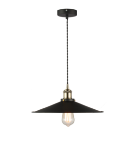Светильник лофт подвесной WL41 плафон черный металл, d360, L2m, 60вт е27 код 057-769 Sun-Lumen