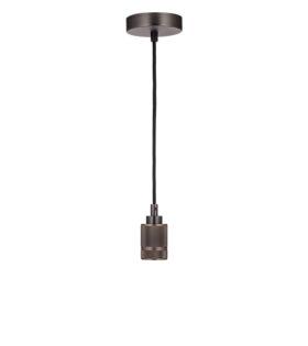 Светильник подвесной лофт модель #103 без плафона, патрон бронза матовая, L2m, 60вт е27 код 056-564 Sun-Lumen