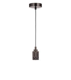 Светильник подвесной лофт модель #103 без плафона, патрон черный матовый 45х70, L2m, 60вт е27 код 056-571 Sun-Lumen